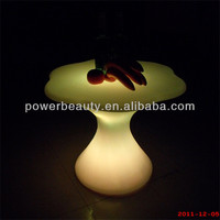2014 new design rechargeable LED dinning coffee table/ LED lighted bar club garden table furniture