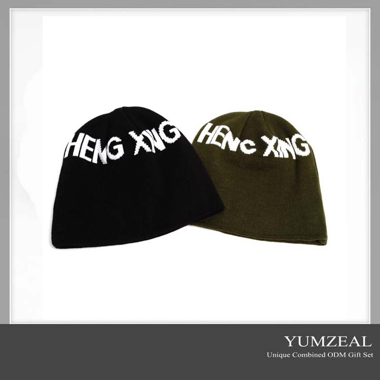 Wholesale promotional gift/cheap gift /acrylic promotional beanie hat/