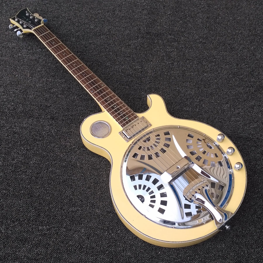Brand Resonator 5 string Electric Guitar in Cream Yellow Color