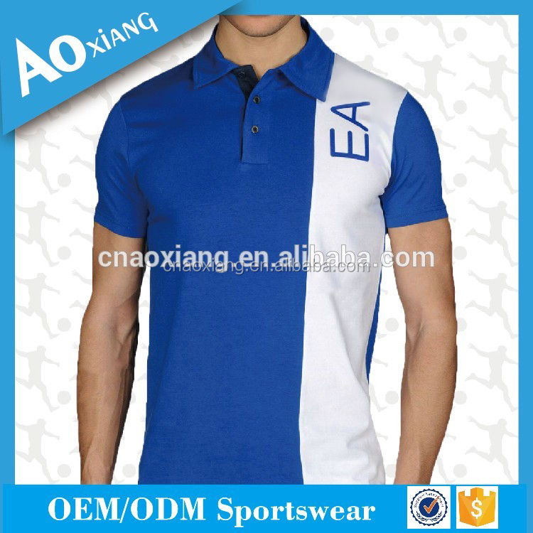 Custom sublimation Polo t-shirts latest combined Men's polo t shirt