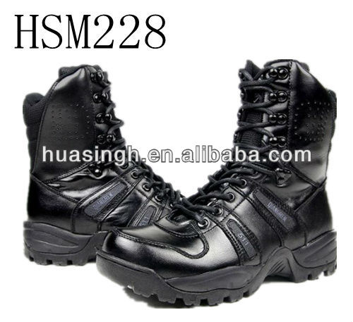 XM,new arrival hi-glossy patent leather black mens combat boots for military and government