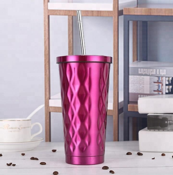Hot Sale Colorful Double Walled Insulated Stainless Steel Travel Coffee Mug With Lid