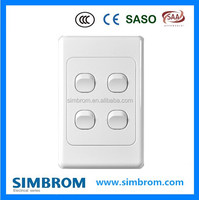 Wall switches and sockets Four gang one way high-end switch