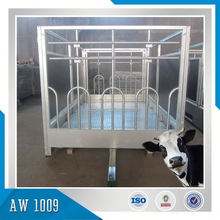 Anti-rust Hot Dipped Galvanized Animal Car, Sheep and Cattle transporter, animal wangon