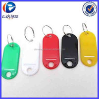Blank Custom Colored Plastic Key Tags with ID Labels Hotel