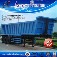 HYVA hydraulic cylinder 3 axles 40ft container dump trailer chassis for sale