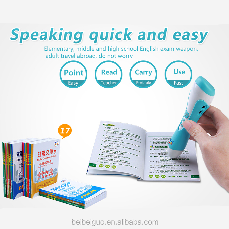 Magic language translation point reading pen for kids learning