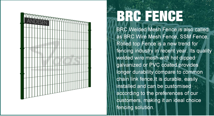 Used factory brc mesh round top garden wire fence