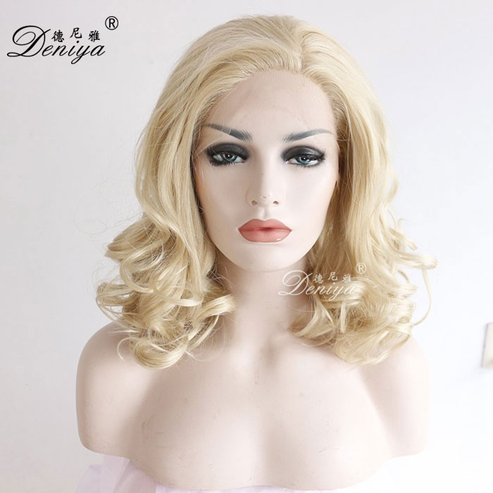 Small cap size wet and wavy cheap lace front wig