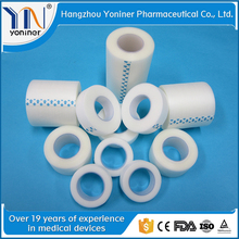 first aid products cohesive pe tape hot sale no-woven surgical tape common transparent surgical film