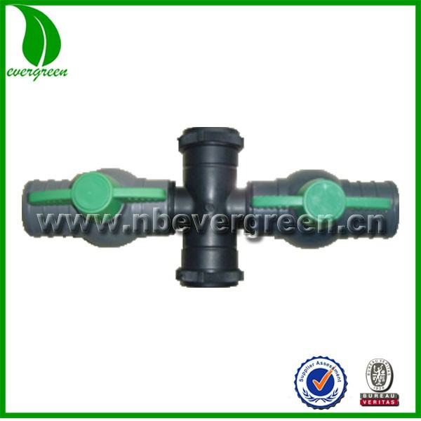 2inch micro spray tube cross coupliing valve