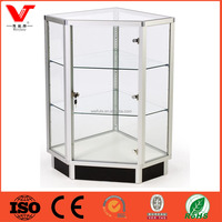 jewelry store showcase and counter, corner glass display cabinet for sale