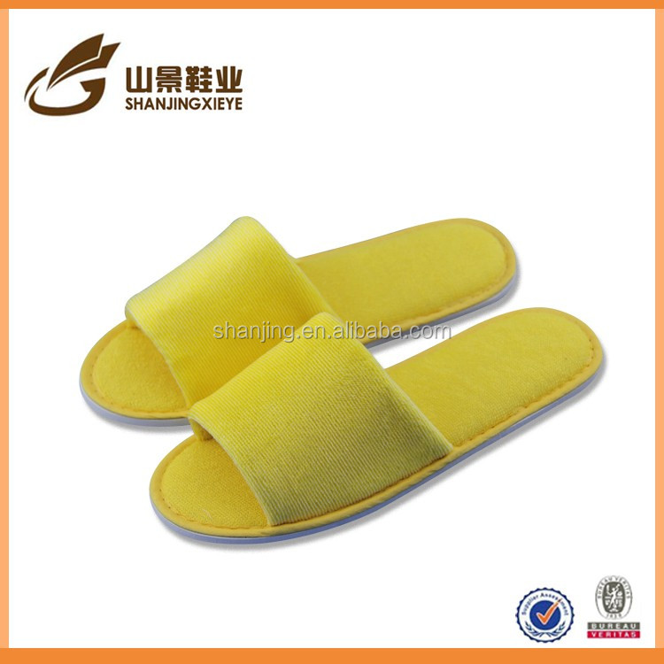 open toe knitted fabric house male warm guest slippers shoes