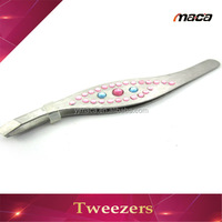 TW1118 Hot sale ESD carbon steel eyebrow rubis tweezer