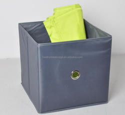 Wholesale Grey fabric storage box, foldable storage cube for clothes organizer