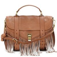Alibaba China Classical OEM Soft Leather Tassel Design Women Messenger Satchel Bag
