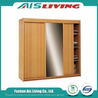 Modern cheap closet free standing bedroom wardrobe sliding door design