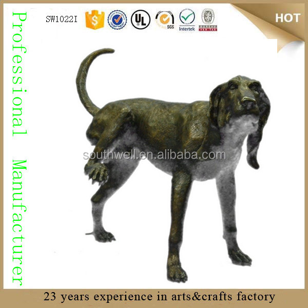 Wholesale life size dog statues large garden life size bronze sculpture deco