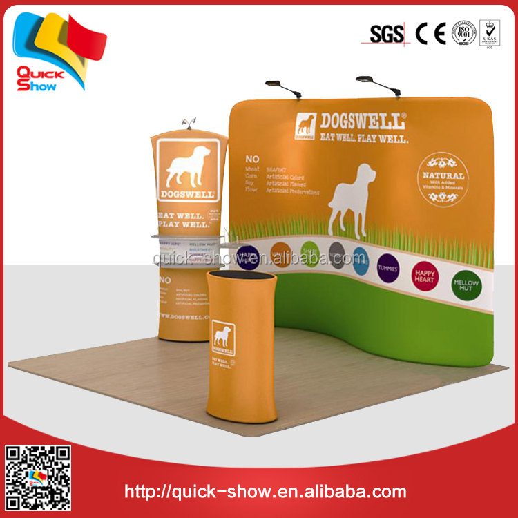 magnetic pop display stand tension fabric diaplay