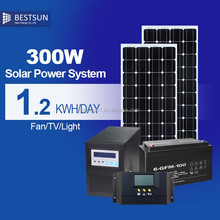 300W-10KW solar home system /solar panel +solar inverter +charger controller +gel battery +solar racking +free shippment