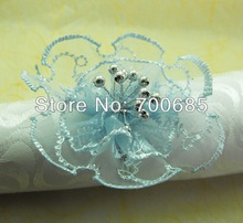 wholesale lace flower napkin ring for wedding,metal napkin holder