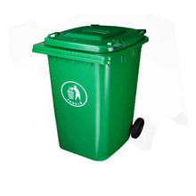 240 liter large industrial recycle plastic waste bin with wheels