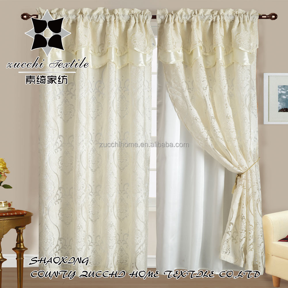 2016 new style flower jacquard curtain ribbon designs