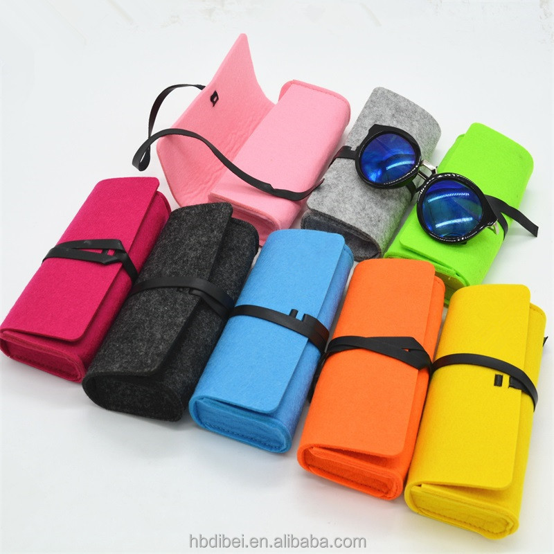 New style Promotional Custom design multicolor felt classical glasses case