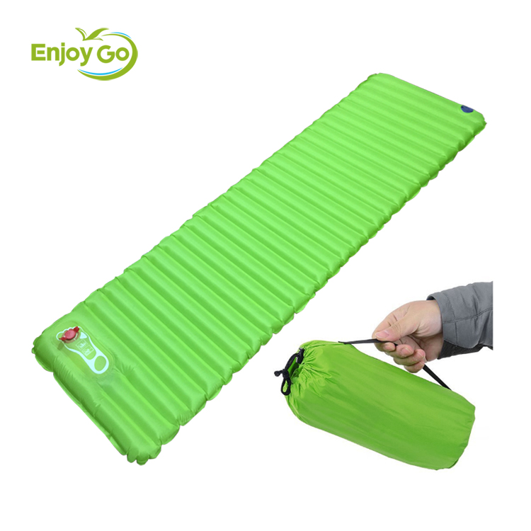 air inflatable light weight sleeping pad for camping