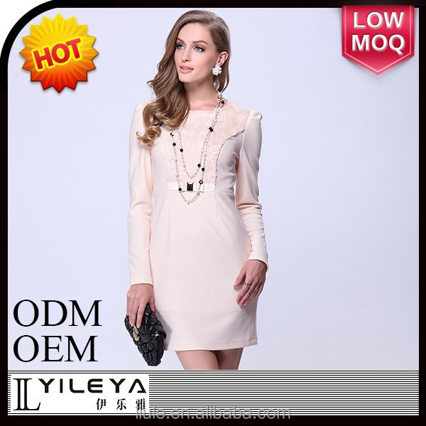 latest fashion women noble white dress, fifties style dresses
