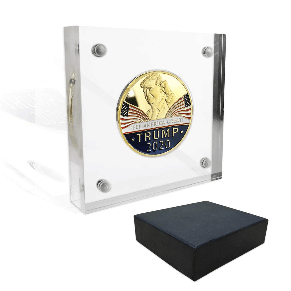 Commercio all'ingrosso Custom made Acrilico Trasparente Banconota Contenitore Coin Holder