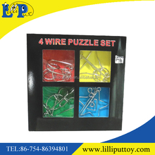 Inteligence iron toy wire puzzle set toy for kids