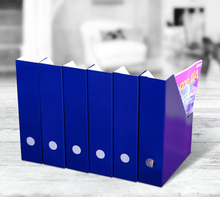 Folding decorative file folder holder