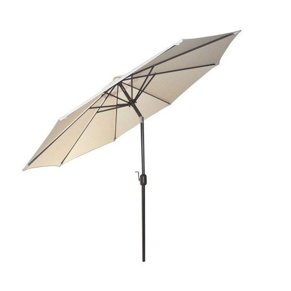 White Reclined Crank Aluminium Outdoor Umbrella