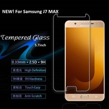 0.3mm 2.5D premium quality tempered glass for sam galaxy J7 max, cell phone accessories for sam galaxy J7 max screen protector