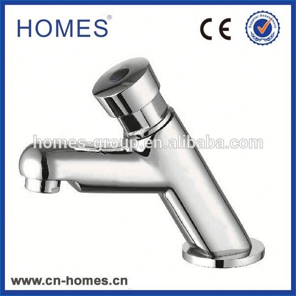 Brass Public Washroom Push Button Self Closing Saving Water Delay Basin Faucet