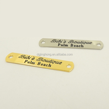 Custom Two holes Clothing Metal Name Label