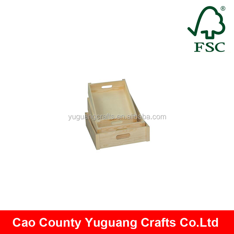 made in china unfinished rectangulr paulownia wooden dry fruit tray