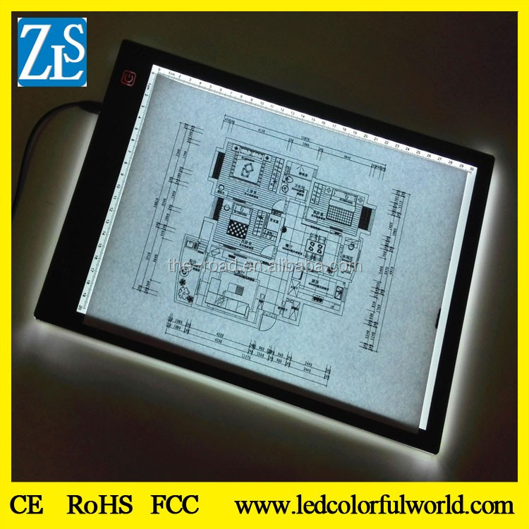 Miracle Glow DC12V Acrylic Panel A4 Led Light Pad/ Tracing Board Tattoo Light Box Dark Glow Display