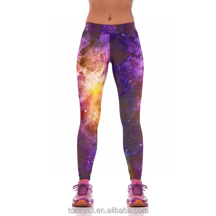 Quick Dry Slim Tight Running Custom Print Breathable Pants Women Polyester Spandex Yoga Sports Leggings Fitness