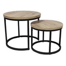 french italian industrial style home goods wood rustic round coffee table set modern/side table living room <strong>furniture</strong>