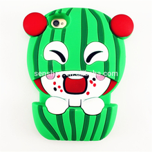 Shenzhen Wholesale Summer 3D Watermelon Animal Silicone Cover For iPhone 5 5s