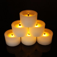 hot selling wholesale wax figures for sale 5*3 cm emulation mini led candle fashionable home decorations