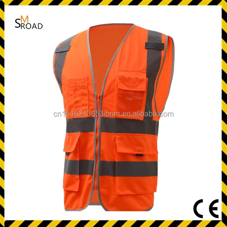 high reflection Hi-vis EN20471 Customized Size safety CHEAP reflective vest