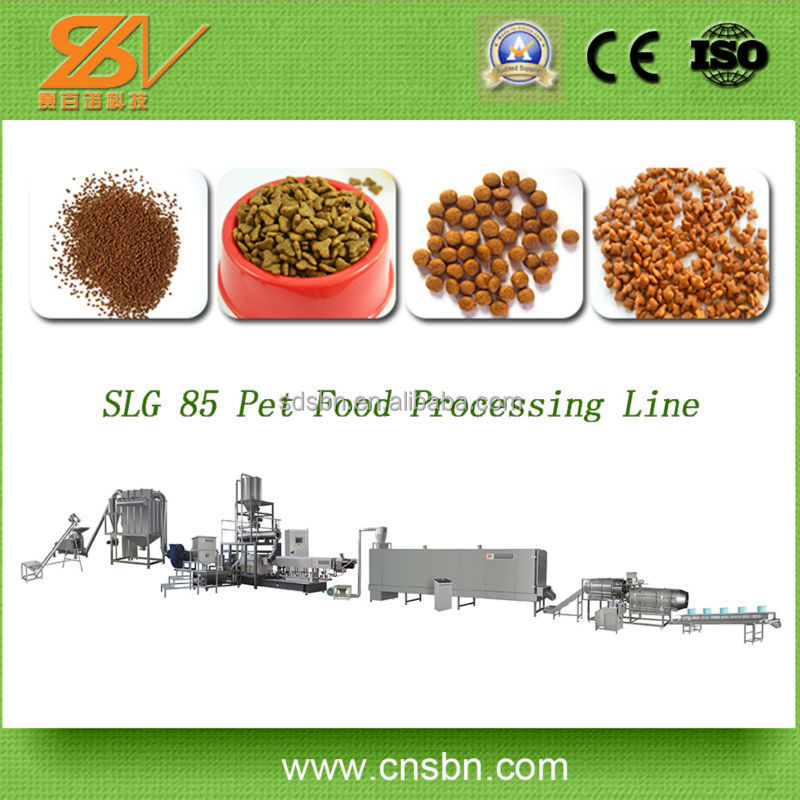 CE,SGS Full Automatic Dog/Pet/Cat/Fish And So On Pet Food Processing Line /Fish food making machine