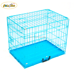 Factory Wholesale Folding Metal Dog Cage Cat Animal Cage Dog Kennel Cage Color Blue