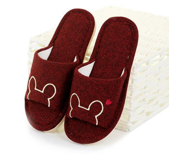 cute indoor quality soft cotton slipper