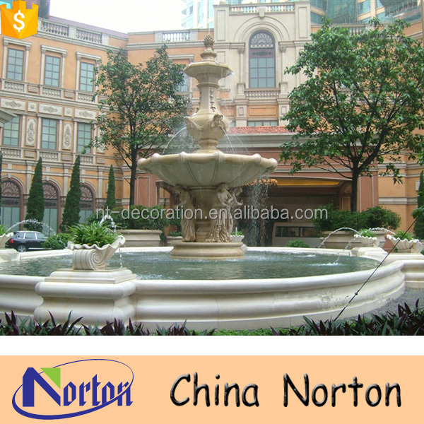 Western style outdoor decoration religious water fountain NTMF-SA453A