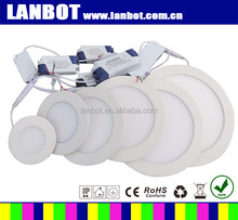 Ultra-thin round led recessed ceiling panel light 3w 6w 9w 12w 15w 18w 24w