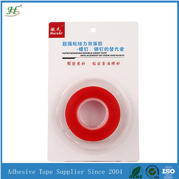 Acrylic adhesive double sided flat polyester tape with costom packing